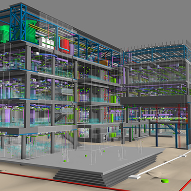 Western Building Revit BIM showing all services