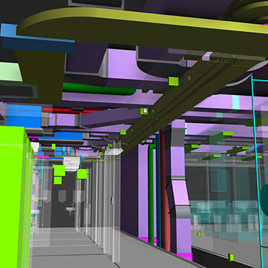 Western Building interior BIM all services